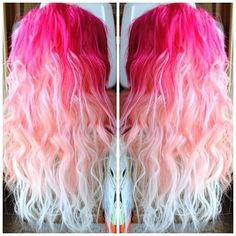 Pink ombre hair♥