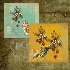 Vintaq Garden Art  Digital Collage Sheets by DesertLifeCreations, $4.25
