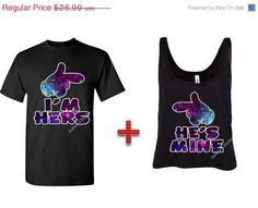 I'm Hers - He's Mine,Disney Couple Matching Disney Shirt Boxy Tanktop Tank top.Inspired.Aye hes mine aye shes mine, Shes mine hes mine gift on Etsy, $22.49