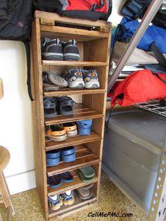 Call Me PMc: DIY Shoe Rack from Scrap Wood #DIY