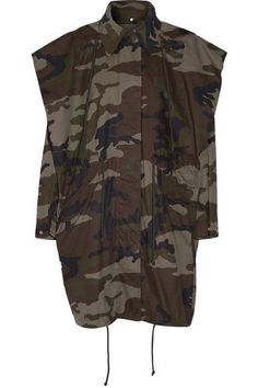 MM6 Maison Margiela - Hooded Camouflage-print Cotton-canvas Jacket - Army green