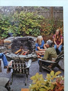This kind of firepit would be great for the corner of a small yard.