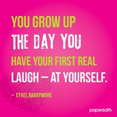 Ethel Barrymore quote #papersalt #parenting #family www.papersalt.com
