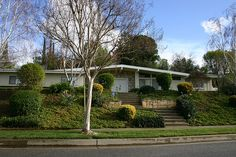 Woodland West development, Woodland Hills, CA, completed in Mid Century Ranch, Mid Century House, Mid Century Modern Design, Modern House Design, Ranch House Remodel, Mid Century Exterior, Woodland Hills, Midcentury Modern, Curb Appeal