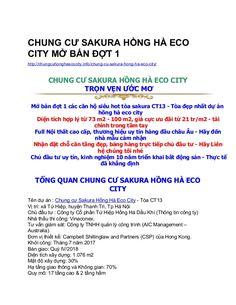 CHUNG CƯ SAKURA HỒNG HÀ ECO  CITY MỞ BÁN ĐỢT 1  http://chungcuhonghaecocity.info/chung-cu-sakura-hong-ha-eco-city/  CHUNG CƯ ...