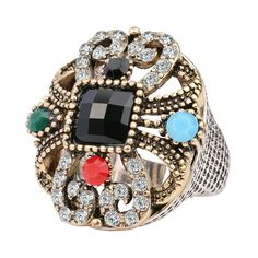 Salwar Kameez Saari Indian Style Women's Rhinestone Crystal Agate Fashion Ring!   #Indian #Collection #Hot #Statement #Ring