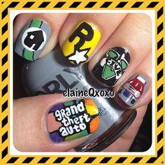 GTA5 by elaineqxoxo  #nail #nails #nailart