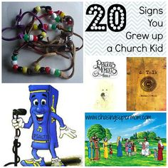 20 Signs You Grew Up a Church Kid - funny list from Chasing Supermom    ~ WOW, I was surprised at how many of these cool things I could remember Us & the Kiddos doing as a Christian Mom!  :)