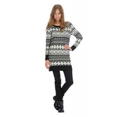 ACQUARD MAXI PULLOVER XL208DF1140 the versatile maxi pullover sweater or jacquard mini-dress is super trendy, for an astonishing off duty look. Match it to biker boots in leather.