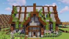 A build from Grian i built as a shop in our realm. : Minecraft A build from Grian i built as a shop in our realm. Villa Minecraft, Minecraft Bauwerke, Minecraft Greenhouse, Architecture Minecraft, Minecraft Shops, Casa Medieval Minecraft, Construction Minecraft, Minecraft Cottage, Cute Minecraft Houses
