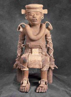 Mexico, Veracruz (Veracruz), Seated Figure, 800/1200, ceramic  Portland Art Museum