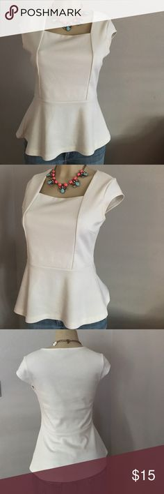 The Limited Peplum blouse - Small The Limited Peplum blouse - Small.  This has been used but it is in very good condition.  I used it a hand full of times.  I also have a Navy Blue in Small. The Limited Tops Blouses