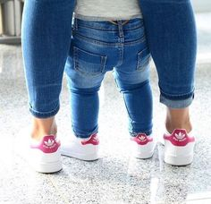 Gotta get these for me and my baby girl! And for big sister too ❤️ Mother Daughter Outfits, Mommy And Me Outfits, Mom Daughter, Daughters, Baby Girl Fashion, Toddler Fashion, Kids Fashion, Cheap Fashion, Look Fashion