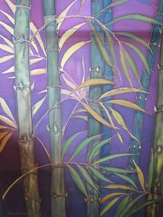 bamboo silk painting