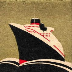 Cruise ship, ocean liner, waves, illustration, design