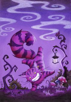 My go on the Cheshire Cat from Alice in Wonderland. Purple Love, All Things Purple, Purple Rain, Shades Of Purple, Lewis Carroll, Chesire Cat, Color Lila, Alice Madness, Were All Mad Here