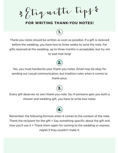 Thank You Notes - Etiquette Tips | WeddingWire SUMMERBOOK 2014