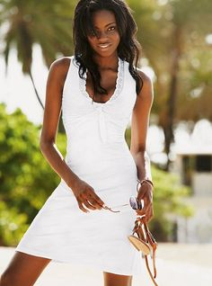 CUTE! White sundress. Can be found @ victoriassecret.com