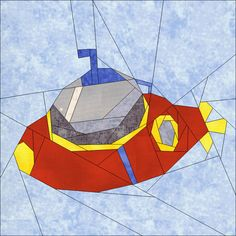 Submarine Sea Life Collection 2 quiltartdesigns.blogspot.com