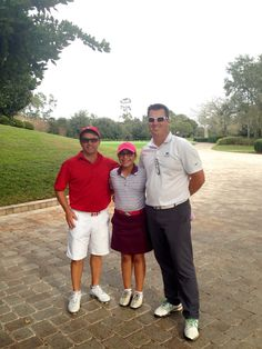 Izzy M. Pellot played 18 holes at the beautiful Lake Nona Golf & Country Club,with PGA Coach Matt Frith & Reál Bergevian
