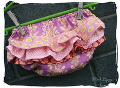 Ruffle Bloomers Tutorial with Free Pattern - Melly Sews Diaper Cover Pattern, Ruffle Diaper Covers, Sewing For Kids, Baby Sewing, My Baby Girl, Baby Love, Baby Bloomers, Baby Steps, Baby Crafts