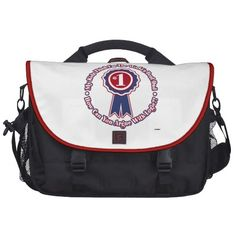 My Kids Think I'm The World's Best Dad! - retro Laptop Commuter Bag   •   This design is available on t-shirts, hats, mugs, buttons, key chains and much more   •   Please check out our others designs at: www.zazzle.com/ZuzusFunHouse*