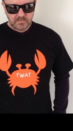 Crab T-shirts inspired by Ricky Gervais comedy drama Derek