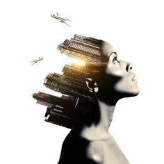 Double Exposure by Martin Knight, via Behance