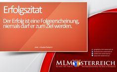 Erfolgszitat vom 23.05.2013 auf MLM-Österreich.at