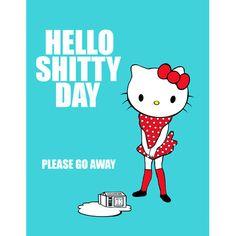 hello kitty print 8 x 10 HELLO SHITTY DAY please by boopsiedaisy, $14.00