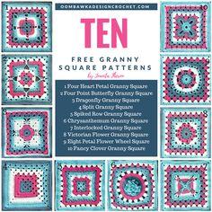 10 Free Granny Square Patterns https://oombawkadesigncrochet.com/2017/08/35870.html