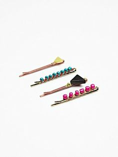 Free People Icon Bead Bobby Pins | a pack of 4 costs $18!?! i'll just make my own, thank you
