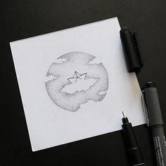 sketch/paper boat