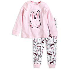 Pyjamas ($20) ❤ liked on Polyvore featuring intimates, sleepwear, pajamas, bunny pajamas, cotton pyjamas, bunny pjs, cotton pajamas and cotton sleepwear