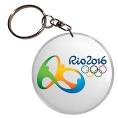 Porte clef aluminium et résine avec le logo des Jeux Olympiques de Rio 2016