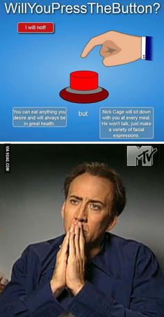 Will You Press The Button: picture brought to you by evil milk funny pics. Image related to Will You Press The Button Funny Pins, Stupid Funny Memes, Funny Relatable Memes, Funny Stuff, Random Stuff, Funny Cute, Really Funny, Hilarious, Haha
