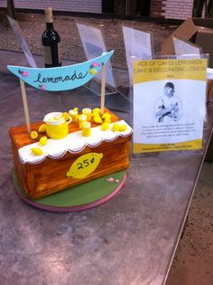 Lemonade Stand cake made by Charm City Cakes for a past LA Loves Alex's event.