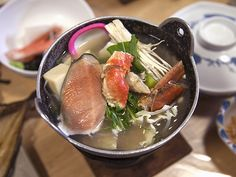 Seafood hotpot in Hokkaido