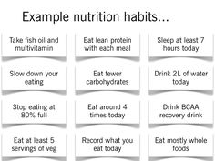 implement 1 every 2 weeks to build good habits for the rest of your life... follow link