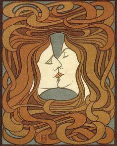 """Peter Behrens, """"El beso"""", 1898"""