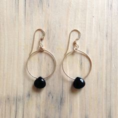 wanderlust life black spinel mini tuscany hoops  www.wanderlustlife.co.uk