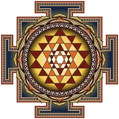 This is the Hinduism yantras. The Shri Yantra is formed by nine interlocking triangles that surround and radiate out from a central point. It represents the Hindu goddess Sri Lakshmi, the goddess of abundance on all levels. Spiritual Figures, Spiritual Images, Spiritual Symbols, Sacred Symbols, Sacred Geometry Art, Sacred Art, Diwali Pictures, Shri Yantra, Lord Vishnu Wallpapers