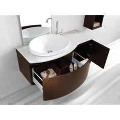 Virtu USA Isabelle 48 In. Single Basin Vanity In Walnut With Marble Vanity  Top In · Floating Bathroom VanitiesBathroom SinksMaster ...