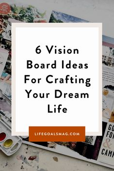 Time to create the best vision board for your dream life. What's your dream vision for living your best life? here are some fun, creative ways you can create a vision board to plan out your future. Bullet Journal Vision Board, Digital Vision Board, Christian Motivation, Creating A Vision Board, Life Guide, Reading Quotes, I Love Reading, Magazine Pictures, Life Purpose