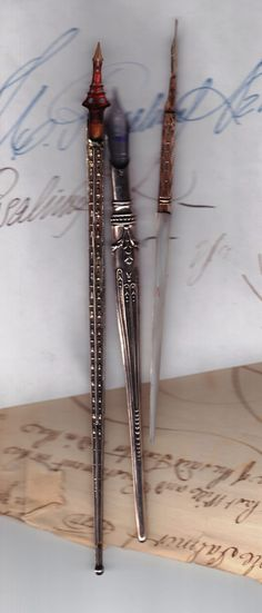 """some of my vintage dip pens and calligraphy.... I LOVE writing with pen & ink!"" >>> These are Beautiful!"