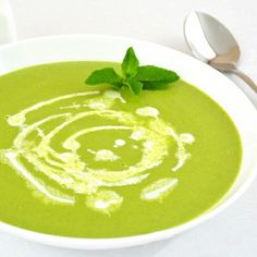 Cookertino > Green Pea Puree Soup with Mint. For informational ...