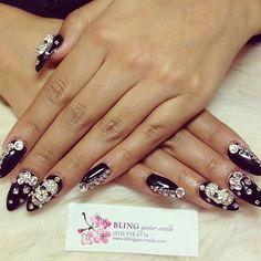 edgy nail bling