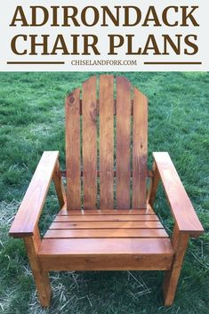 Inspired from Ana White plans, this Adirondack chair only uses a miter saw and jig saw to put together and are perfect for your backyard. wood projects projects diy projects for beginners projects ideas projects plans Outdoor Furniture Plans, Woodworking Furniture Plans, Rustic Furniture, Woodworking Projects, Wood Projects, Yard Furniture, Antique Furniture, Fine Woodworking, Woodworking Equipment