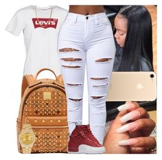 """Untitled #1382"" by msixo ❤ liked on Polyvore featuring Levi's, MCM, NIKE and Rolex"