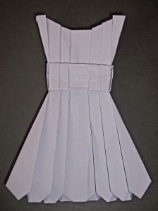 Instructions for Pleated Origami Dress From a Square